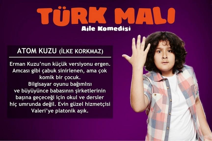 türk malı ilke korkmaz karakteri atom kuzu